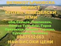 Нива, Ливада, Лозе, Овощна градина, Пасище, Други,  (купува) в Велико Търново